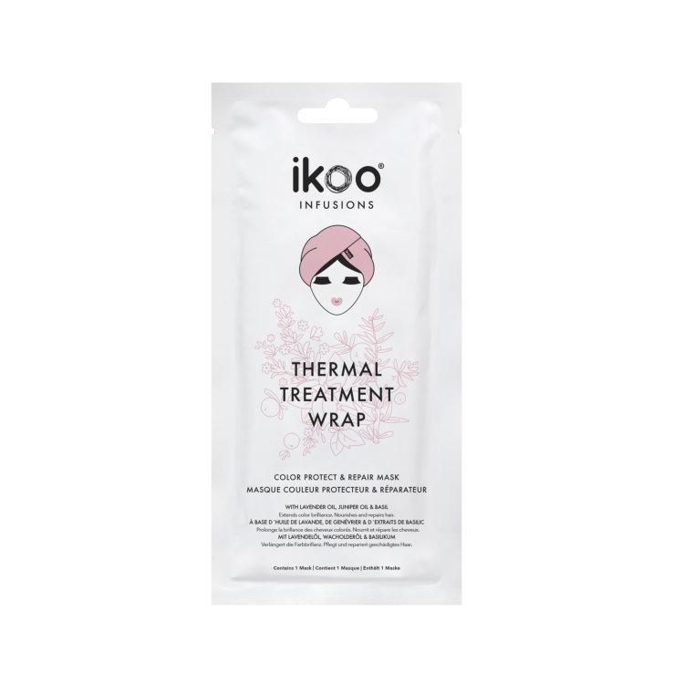 Термальная шапка-маска ikoo Thermal Treatment Wrap – Защита цвета и восстановление (display fulfilled with 15 sachets) |