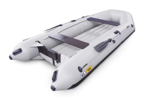 Надувная ПВХ-лодка Солар SL - 380 (светло-серый)
