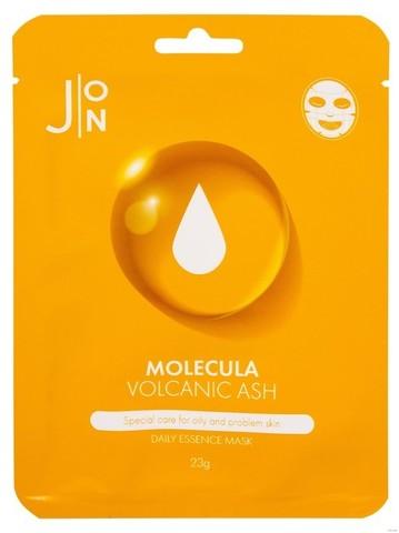 [J:ON] Ткан, маска д/лица ВУЛКАНИЧЕСКИЙ ПЕПЕЛ MOLECULA VOLCANIC DAILY ESSENCE MASK 23 мл, 1шт