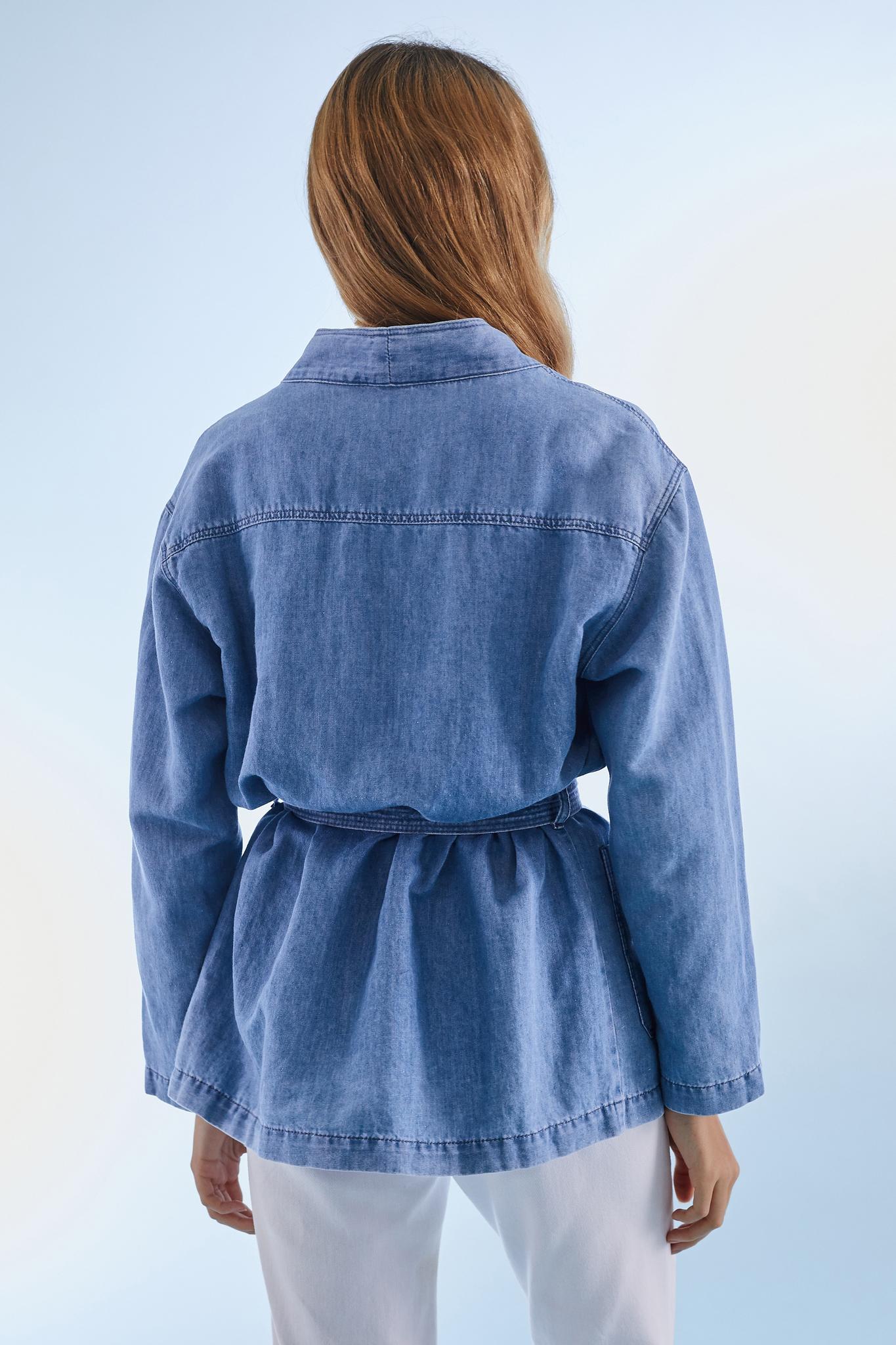 VAIMITI - Жакет в стиле кимоно из хлопка и льна