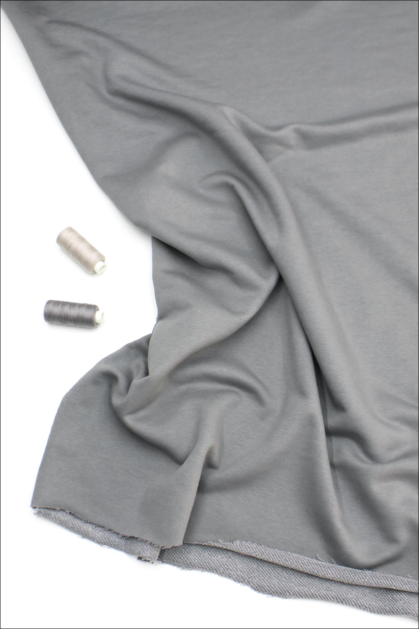 Футер 3х нитка диагональ, серебро , велюр-эффект,330 гр