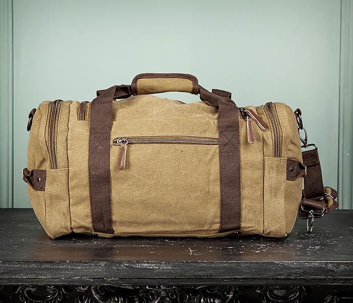 BAG502-2 Тканевая сумка для ручной клади коричневого цвета фото 10