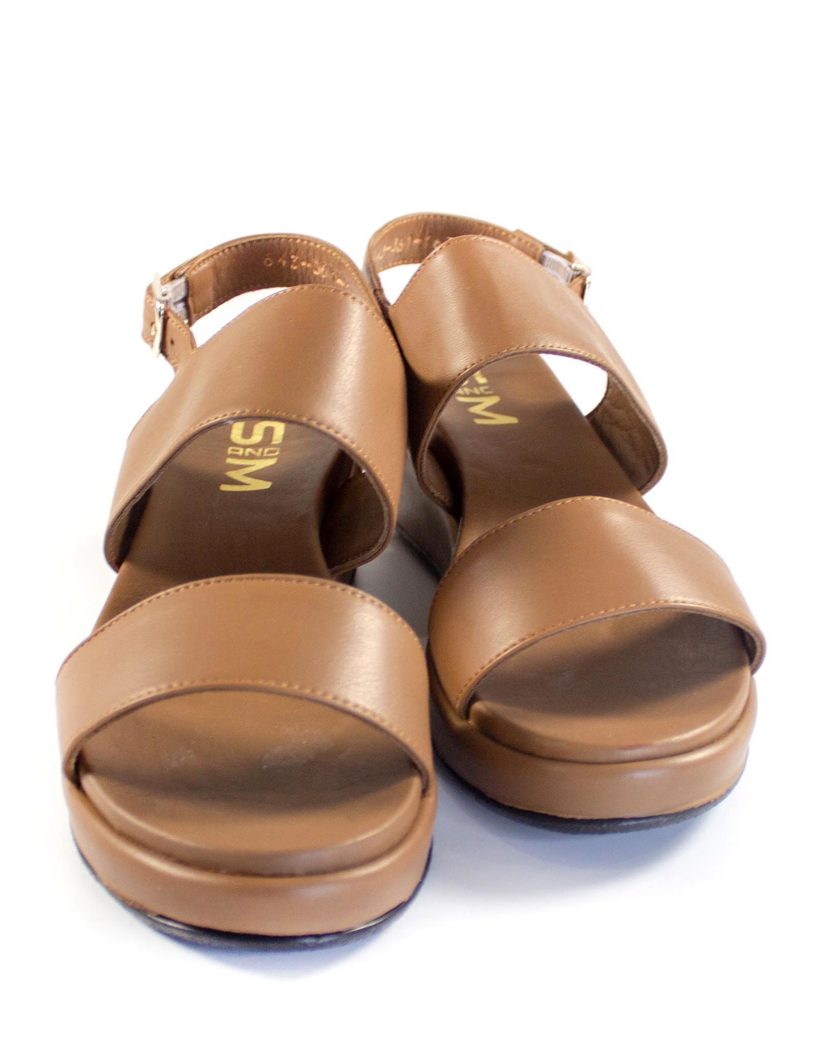 коричневые сандалии SM