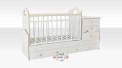 Детская кроватка-трансформер «Infanzia» 1200х600