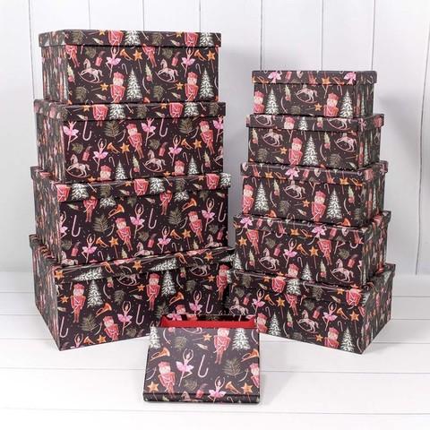 коробок Щелкунчик и новогодняя сказка, Черный, 37*29*16 см
