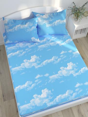 Простынь  -Облака- 240х215 см евро