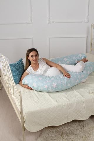 Подушка для беременных U360 (лебяжий пух) 10552 звезды