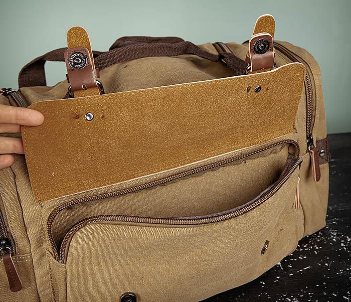 BAG502-2 Тканевая сумка для ручной клади коричневого цвета фото 11