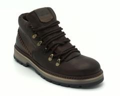 Кожаные ботинки на протекторной подошве
