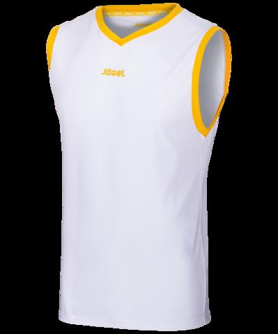 Майка баскетбольная JBT-1020-014, белый/желтый