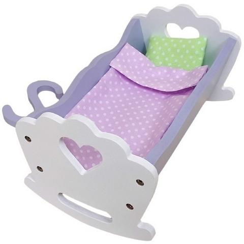 SunnyWoods Малышка с держателем - кроватка-качалка для куклы M252003