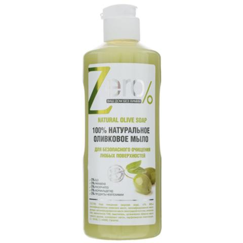 ZERO хозяйственное жидкое мыло Оливковое,  500 мл