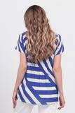 Блузка для беременных 08676 синий-белый