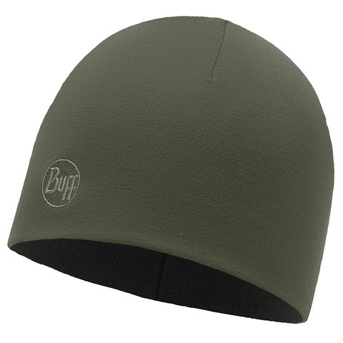 Теплая шерстяная шапка Buff Solid Forest Night фото 1