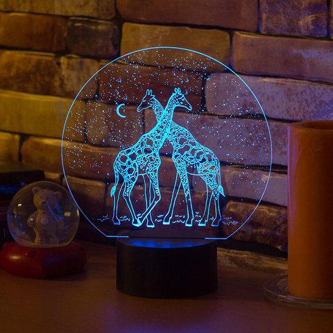 Светильник Два жирафа