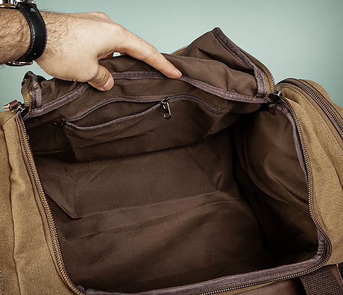 BAG502-2 Тканевая сумка для ручной клади коричневого цвета фото 12