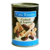 Бобовые Casa Rinaldi смесь (фасоль белая, фасоль красная, чечи, фасоль каннелини) 400г