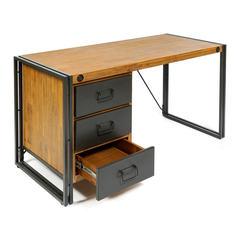 Стол письменный Secret De Maison CITY ( mod. CTY L09-3D ) металл/дерево акация, коричневый дым (smoke brown B034)