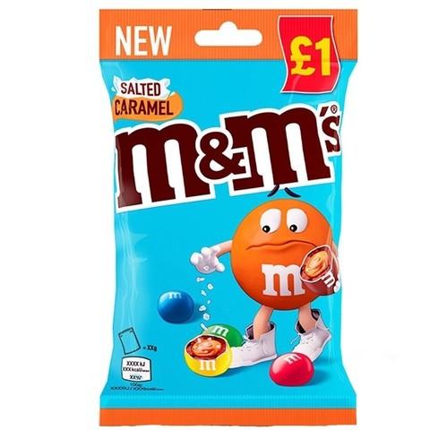 Шоколадное драже M&M'S Salted Caramel с карамелью и солью 70 гр