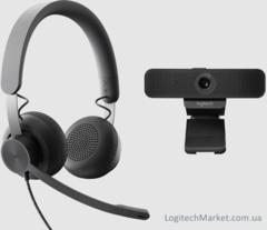 LOGITECH Personal Wired Video Collaboration Kit MSFT Teams [991-000338]