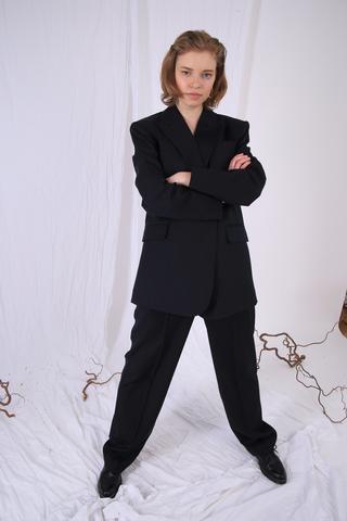 Костюм тройка из шерсти Италия (пиджак+брюки+жилет))