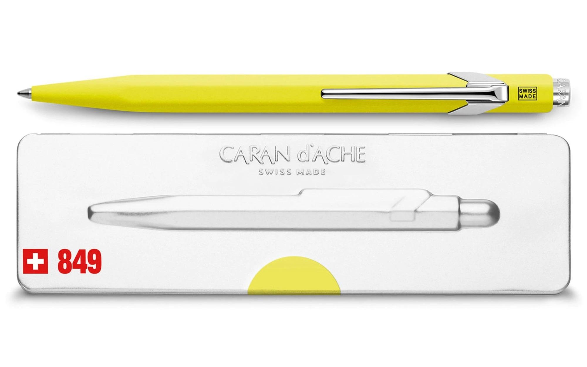 Carandache Office 849 Pop Line - Yellow, шариковая ручка, M
