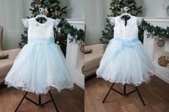 Платье детское № 2 Голубое