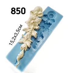 0850 Молд силиконовый. Орнамент растительный левый.