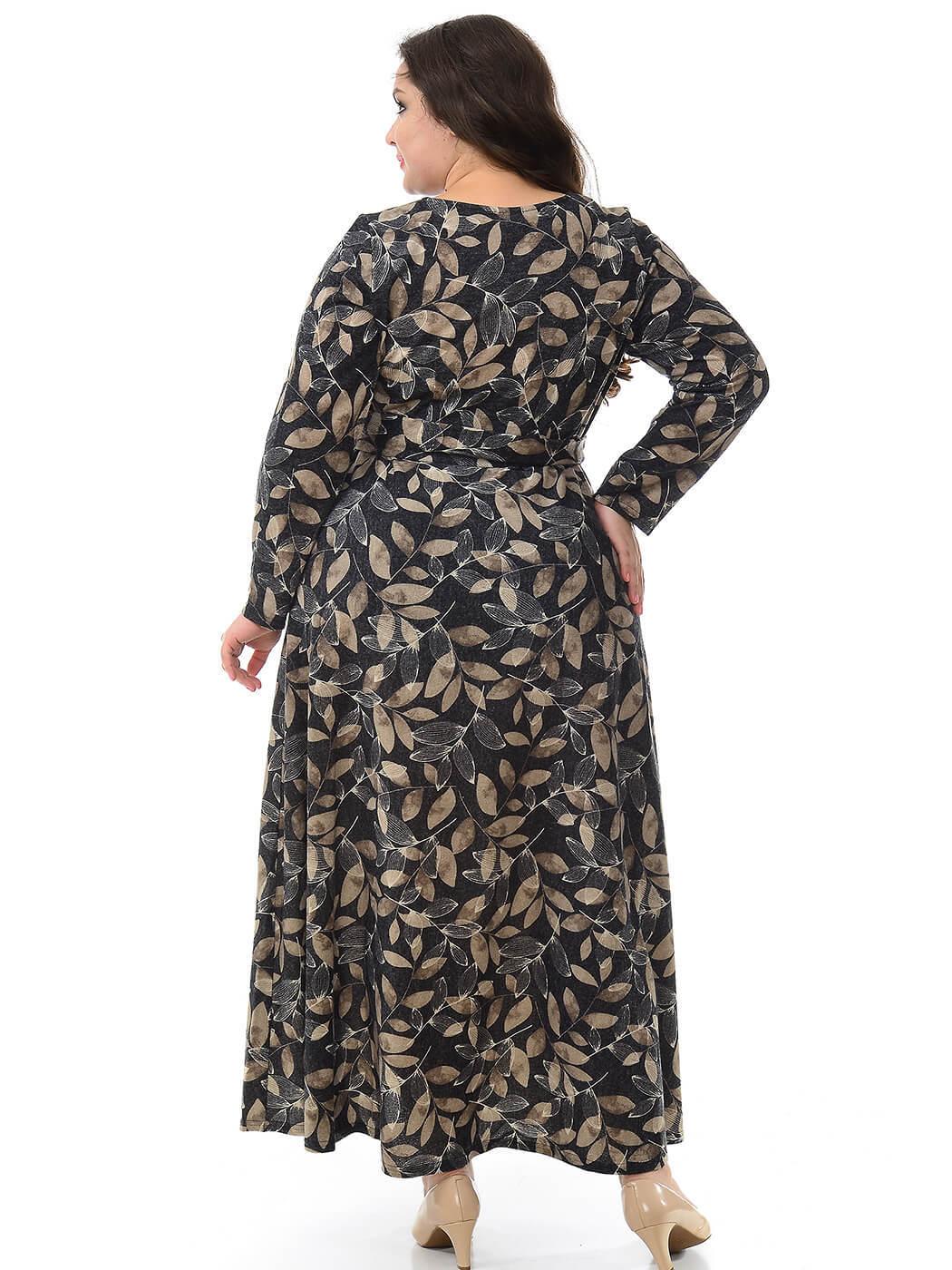 Длинное платье из джерси Листья