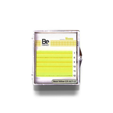 Цветные ресницы Be Perfect Neon Yellow MIX 6 линий