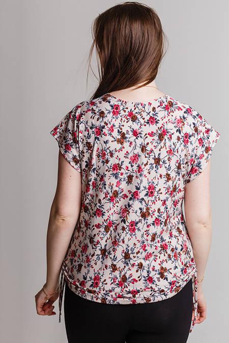 Выкройка блузки с коротким рукавом