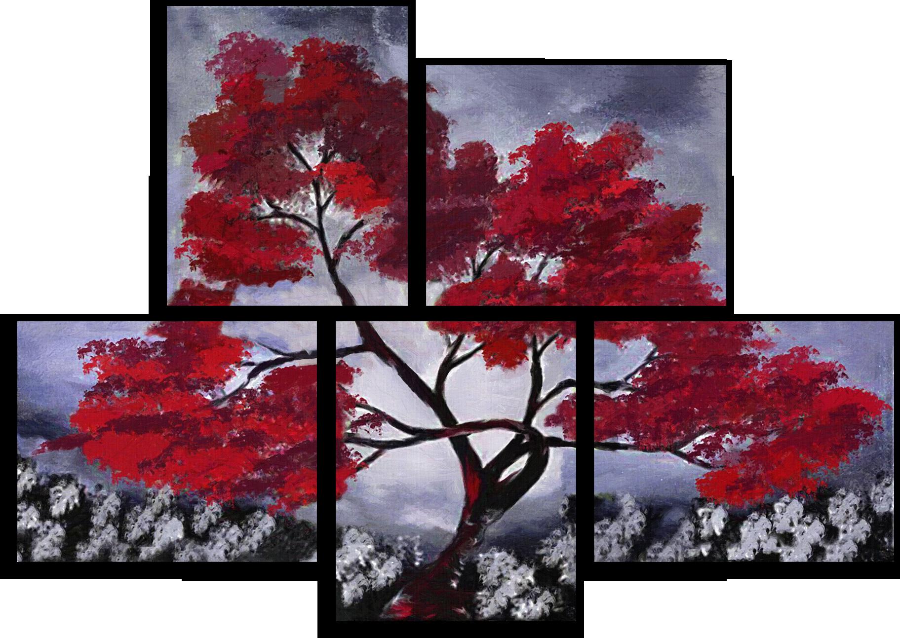 "Природа Модульная картина ""Алое дерево"" М383.png"