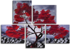 "Модульная картина ""Алое дерево"""