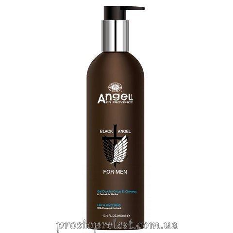 Angel Professional Paris Black Angel Hair And Body Wash - Гель для волосся та тіла з екстрактом перцевої м'яти