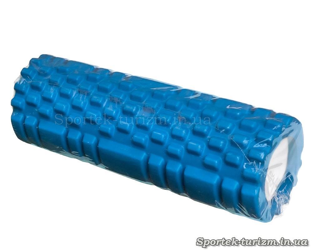 Массажный ролик длиной 30 и диаметром 10 см с шипами и плоскостями