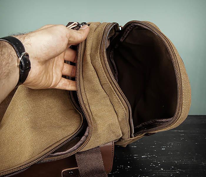 BAG502-2 Тканевая сумка для ручной клади коричневого цвета фото 14