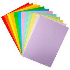 Бумага цветная 2-стороняя офсетная Каляка-Маляка А4, 12 цветов 12 листов, 80 г/м2 в папке/БЦТКМ12
