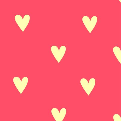 Яркий  розовый паттер с желтыми сердечками