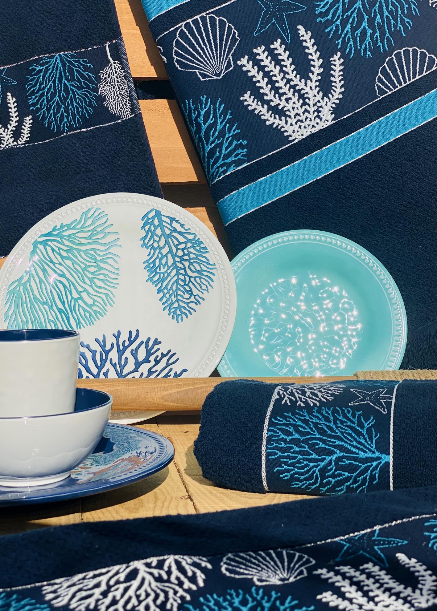 IBIZA towel set / blue