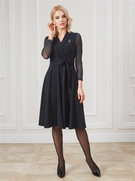 Платье pl-70918C/т-синий