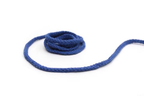 Шнур плетеный, хлопковый,синий