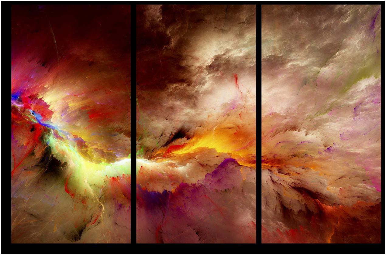 """Абстракция Модульная картина """"Вихрь цветов"""" М952.png"""