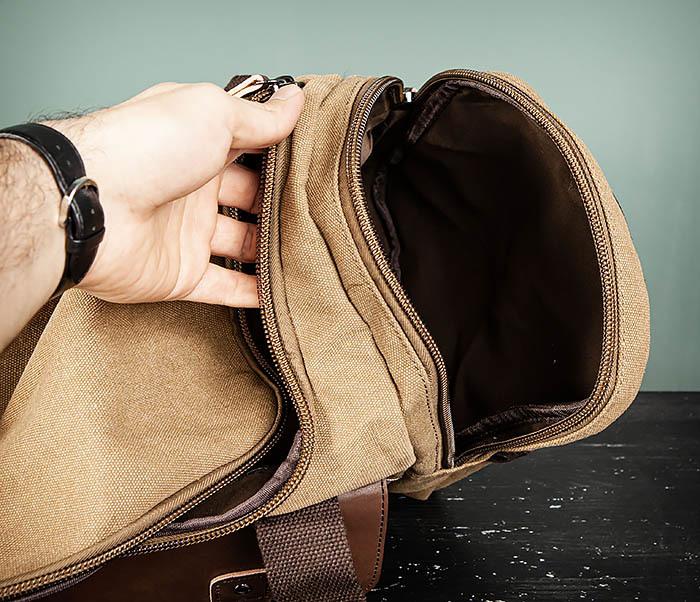 BAG502-2 Тканевая сумка для ручной клади коричневого цвета фото 15