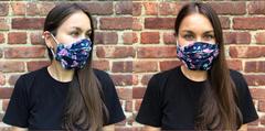 Многоразовая маска для лица. Цветочный принт