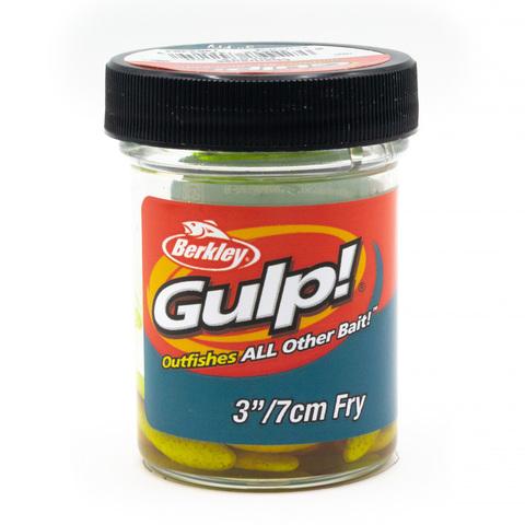 Приманка силиконовая Berkley Gulp Fry 8 см. Chartreuse (1404404) Имитация червя