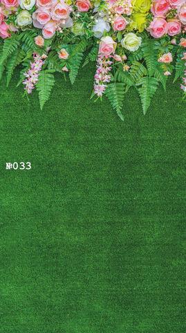 Фотофон виниловый стена-пол «Розы на траве» №033