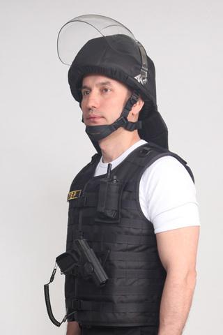Шлем защитный Страж-П, противоударный, с забралом и бармицей