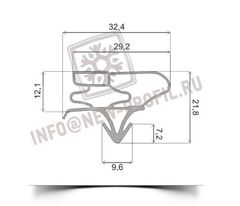 Уплотнитель для холодильника LG GA-449UPA (морозильная камера) Размер  62.5*57 см Профиль 003