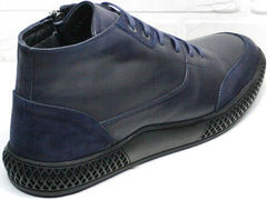 Демисезонные мужские ботинки кожа Luciano Bellini BC2802 L Blue.