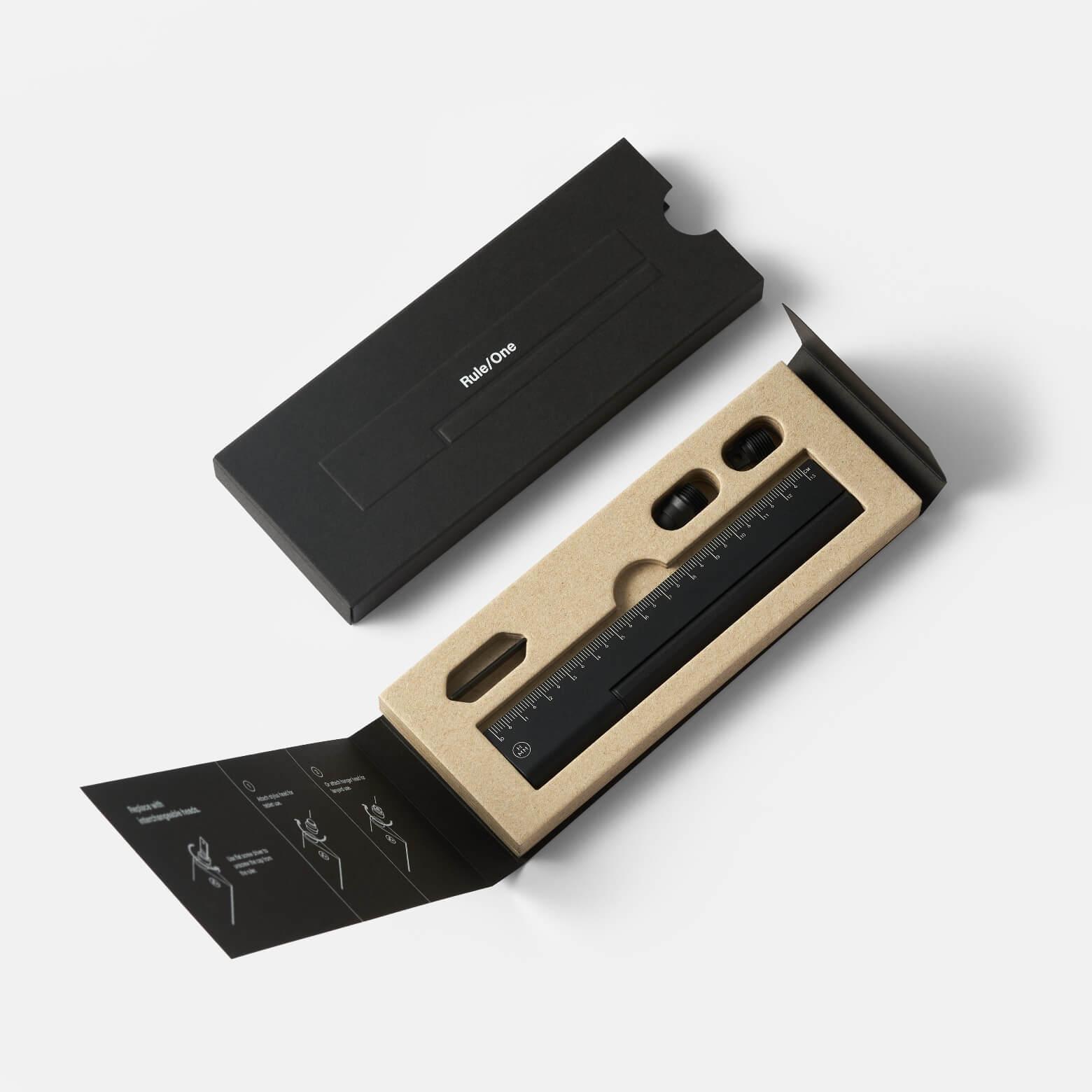 HMM Rule One — ручка-линейка: чёрный